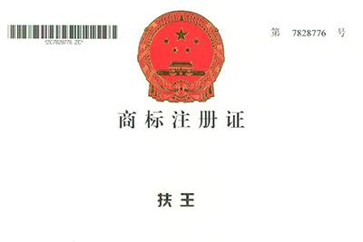 扶王商标注册证